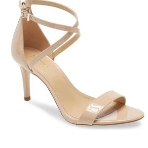 Michael Kors Ava Patent Leather Strappy Sandal Heel Sz- 8